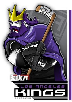 The rashenfrashen Los Angeles Kings get the royal Eric Poole treatment.  More of his work at http://epoole88.tumblr.com