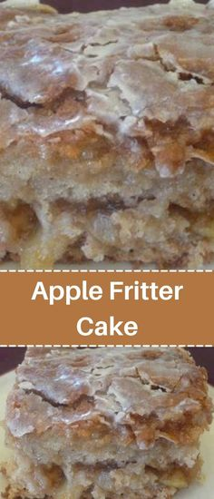 Apple Fritter Cake, Apple Fritters, Apple Fritter Recipes, Apple Recipes, Baking Recipes, Amish Recipes, Baking Tips, Kitchen Recipes, Baking Ideas