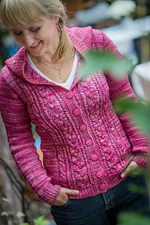Fickle Heart designed by Justyna Lorkowska ~ sized XS thru to XXXL and knit in a 10ply worsted yarn .... here Malabrigo Rios  $6.00 USD via Ravelry download