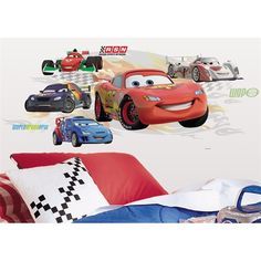 Cars 2 Lightning McQueen & Group Giant Wall Decals RMK1754FLT  $18.49