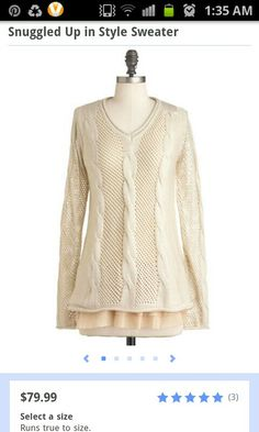 Snuggled Up In Style sweater by ModCloth