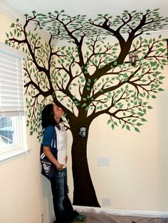 Simple Bedroom Murals simple tree wall murals - painting tree wall murals decorating