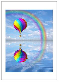 #Rainbow balloon http://brilliantideasoldandnew.blogspot.com/