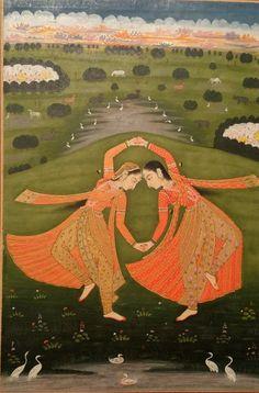 Dancers, Pahari or Rajasthan c1800