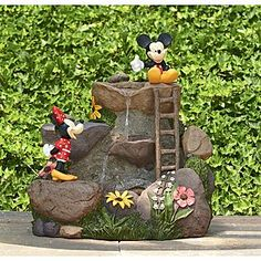 Disney 22in Mickey & Minnie Fountain - Outdoor Living - Outdoor Decor - Fountains & Pumps