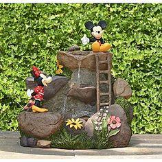 Disney  22in Mickey & Minnie Fountain