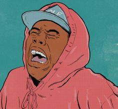 Tyler, The Creator: Tamale Art Sketches, Art Drawings, Tyler The Creator Wallpaper, Dope Cartoon Art, Rapper Art, Hip Hop Art, Dope Art, Portrait Illustration, Aesthetic Art