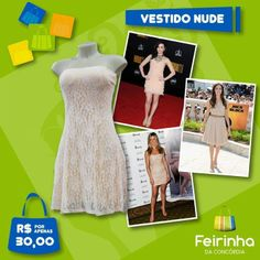 Que T-U-D-O !!! Esse vestido na cor da moda , Nude , está mexendo com a cabeça de todas as mulheres, inclusive com a Angelina Jolie!   #euquero #moda #nude #fashion