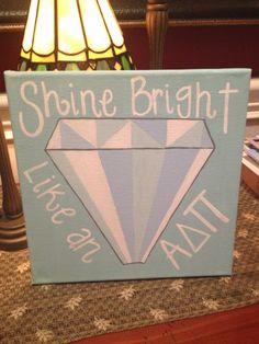 ADPI Diamond HandPainted Canvas by MadebyMeaganCanvases on Etsy