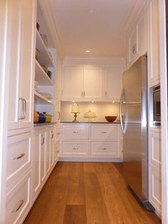 walk in pantry   walk-in pantry white kitchen. Cabinetry by Wesley ...   White Kitchens