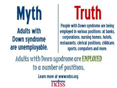 Adults with Down syndrome are employed in a number of positions! Learn more at www.ndss.org.