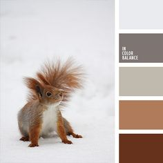 Red and brown colors. Little snowy buddy!)  Color inspiration for design, wedding or outfit. More color pallets on color.romanuke.com.