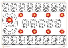 19grafomotricidad numeros | El Portal de Educapeques Preschool Printables, Worksheets, Homeschool, Teaching, Portal, Floor, Candy, Preschool, Writing