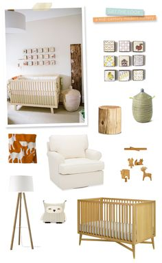 Get the look to this aaaadorable woodland inspired nursery. Love, love, love.   See the rest of this beautiful gallery: http://www.stylemepretty.com/living/gallery/picture/1232062/