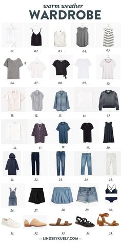 Essential Buying Guide for your Summer Minimalist Capsule Wardrobe Capsule Wardrobe Mom, Capsule Outfits, Fashion Capsule, New Wardrobe, Summer Wardrobe, Professional Wardrobe, Travel Outfits, Work Outfits, French Wardrobe Basics