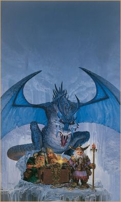 Keith Parkinson, The Ice Dragon.  (It's just not police to read over someone's shoulder.)