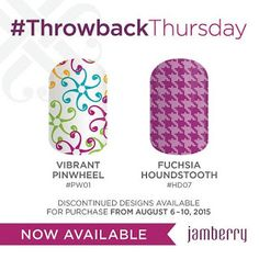 It's Throwback Thursday at Jamberry- get these awesome designs that were brought out of the vault today!