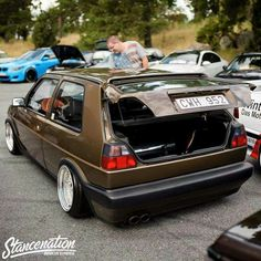 Golf MK2 brown low