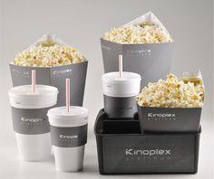 A solução foi elaborada para servir as pipocas gourmet do menu exclusivo das salas de cinema Kinoplex Platinum