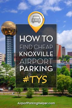 Insider Knoxville airport parking ideas for saving money. Click and learn tips, compare fees and book online quickly. AirportParkingHelper.com offers a number of tips to secure discount TYS parking rates, Knoxville airport parking coupons & bargains - ideal for those planning a babymoon, honeymoon, wedding, cruise, Disney vacation or other travel. Follow us on Pinterest to find more great budget travel tips like free things to do in New York, Chicago, LA & beyond!