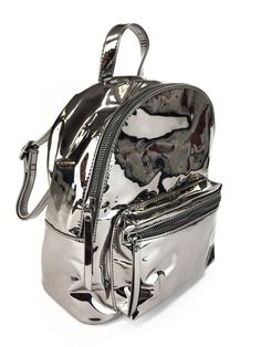 Holographic backpack with zipped front pocket, nbsp inside compartments and  adjustable straps. Jossie Ochoa 4ee2f59b78