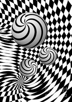 An psychedelic, eye watering piece of black and white digital art by Steve Purnell Photography Illusion Pictures, Cool Optical Illusions, Acid Art, Abstract Line Art, Black White Art, Illusion Art, Psychedelic Art, Op Art, Fractal Art