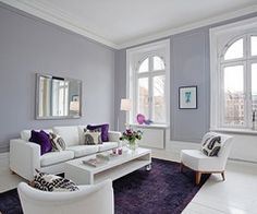 love this purple, gray and white