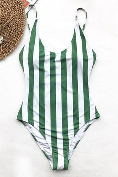 "This swimsuit is perfect for catching the attention of all. Product Code: CYY11457 Details: Stripe design With padding bra Regular wash Fabric:80% chinlon,20% spandex Reference: model try on SIZE M, height 5'8"", weight 150 lbs, bust 36C SIZE(IN) USA UNDERBUST WAIST HIP S 4/6 25.9 25.2 29.8 M 8/10 27.4 26.7 31.3 L 12/14"