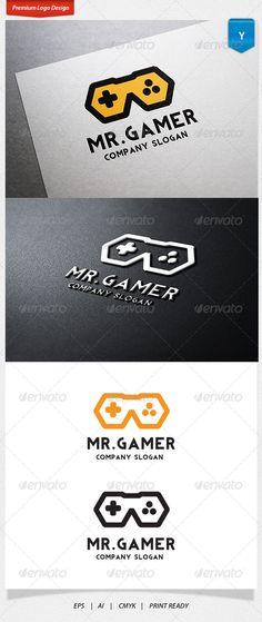 Mr.Gamer 로고 - 심볼 로고 템플릿