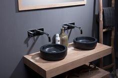 Natural stone & solid oak bathroom