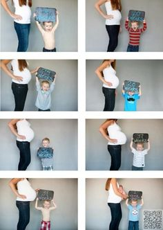 24. #Chalkboard Photo #Series - Cutest #Pregnancy and Birth #Announcements to Copy ... → #Parenting #Style