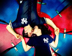 New York Yankee's themed engagement photos for real baseball lovers.