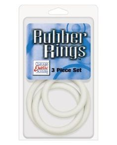 Rubber Ring 3 Pack (Sm,Md,Lg) - White by CRNR. $19.99. You never know when you might find yourself in need of a selection of cock rings. These black rubber Os are the perfect penis enhancement tool. Simply select one or more of the rings in this 3-piece set and arrange them on your cock for superior support. Use one alone or experiment with all three at once to provide extra enhancement for you and three times the sensation for your partner.. Save 20%!