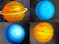 5th Grade Chalk Planets - With awsome video tutorial links as well!