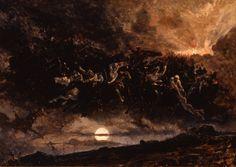 December 16 2016 at from hideback Moonlight Painting, Gustave Dore, Wild Hunt, Statue, Fantastic Art, Portrait, Art World, Drawings, Dark
