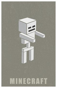 Minecraft Skeleton by Kurataki, via Flickr