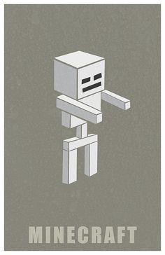 Minecraft Skeleton by Kurataki, via Flickr