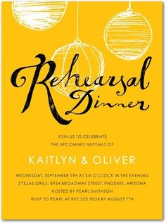 Shutterfly offers rehearsal dinner invitations in beautiful styles and colors. Create wedding rehearsal dinner invitations to celebrate your special day + Save up to Wedding Rehearsal Invitations, Shower Invitations, Wedding Stationery, Invites, Invitation Ideas, Farm Wedding, Dream Wedding, Couple Shower, Wedding Announcements