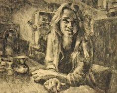 Lady in Cafe Wadapartja door MuseumshopMarandrew op Etsy