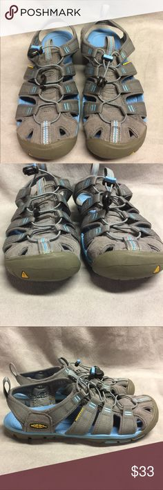 Keen Clearwater CNX Dark Gray Blue Sandals Sz 7 Keen Clearwater CNX Dark Gray Blue Webbed Strappy Outdoor Sandals  Women's US Sz 7 EUR Sz 37.5  Excellent condition Minor scuffs from normal wear Please see pics to see if they will work for you Keen Shoes Sandals
