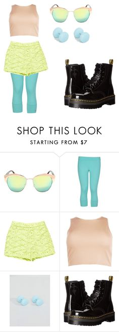 """""""pansexual pride"""" by nowherenenien on Polyvore featuring adidas, Ermanno Scervino, Boohoo, ASOS and Dr. Martens"""