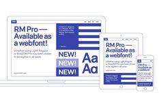 RM Pro Font on Behance