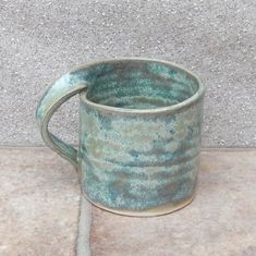 Coffee mug tea cup in stoneware hand thrown ceramic pottery by margaro