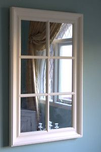 Mirrored Window Frame To Go Behind Curtains That Hang On Both Sides Of The Bed Further Create Feeling There Are Actual Wi