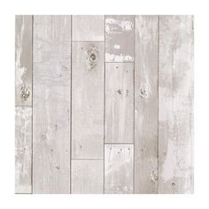 Provincial Wallcoverings 347-20131 Heim White Distressed Wood Panel Wallpaper