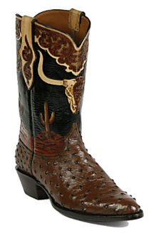 Hand-Tooled Leather Boots Style HT-110 Custom-Made by Black Jack Boots