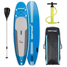 Driftsun Explorer Ultimate Inflatable Paddleboard Package with Travel Backpack, Adjustable Paddle, Coil Leash - 10 Length 6 Inch Thick, White Sup Accessories, Inflatable Paddle Board, Sup Yoga, Standup Paddle Board, Sup Surf, Backpack Straps, Paddle Boarding, Travel Backpack