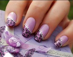 Purple cheetah with silver gems