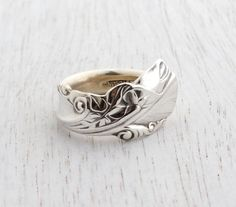 Vintage Wallace Sterling Silver Spoon Ring  Size by MaejeanVINTAGE