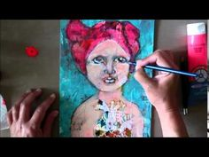 Mixed Media Portrait painting ~ Collab with Sarah Trumpp 2